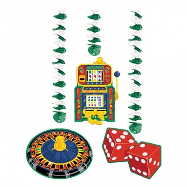 Casino Party Doorway Curtain Foil
