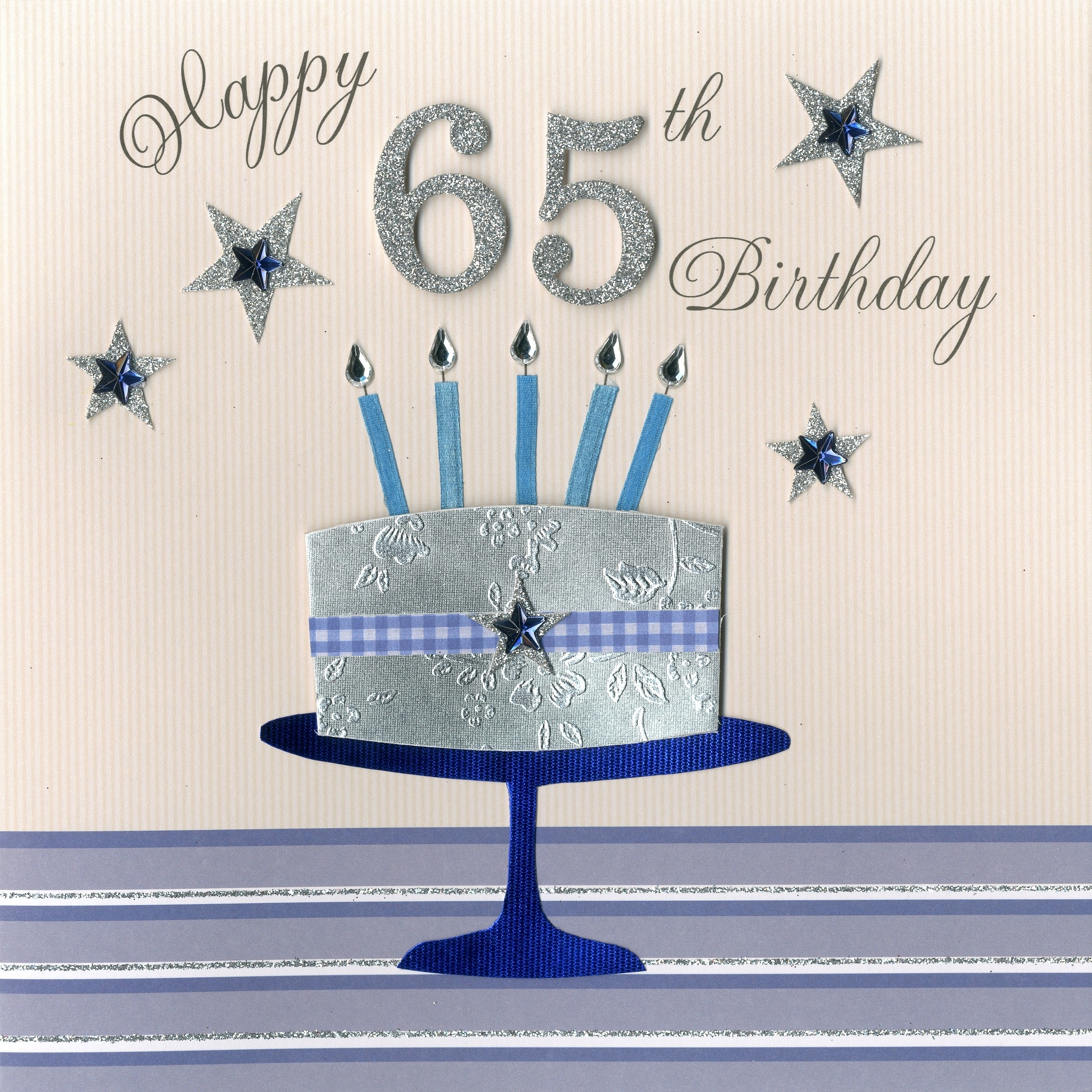Happy 65th Birthday Cake