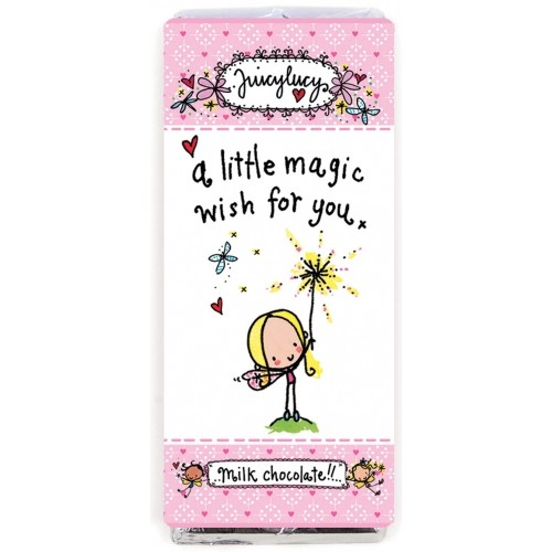"""""""A little magic wish for you"""" Juicy Lucy Chocolate Bar"""