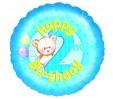 18in 2nd Birthday - Blue Teddies Foil