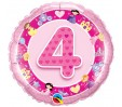 18in Age 4 Pink Princess Foil