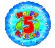 18in 5th Happy Birthday - Dinosaurs Foil