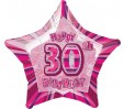 20in 30th Birthday Glitz Pink Foil