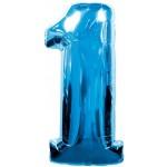 34in Number '1' - Blue Foil