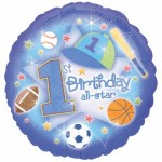18in 1st Birthday All Star Foil