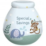 Pot of Dreams 'Childrens Special Savings' Money Pot : Any Name Blue  - SORRY OUT OF STOCK