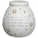 Pot of Dreams 'Wedding Fund' Standard Size Money Pot -