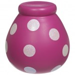 Pot of Dreams 'Style Icon'  Pink With White Spots Money Pot