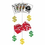 Casino Clear Hanging Decoration