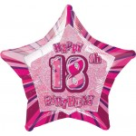 20in 18th Birthday Glitz Pink Foil