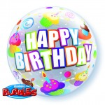 22in Colourful Cupcakes Birthday Bubble Balloon