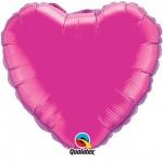 18in Magenta Heart Foil
