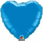 18in Sapphire Blue Heart Foil