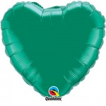 18in Emerald Green Heart Foil