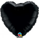 18in Black Heart Foil