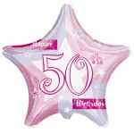 18in Pink Shimmer Foil- 50th Birthday