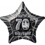 20in 70th Birthday Glitz Black Foil