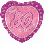 18in 80th Pink & Lilac Foil