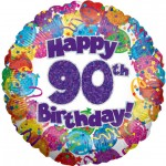 18in 90th Balloons & Streamers Foil