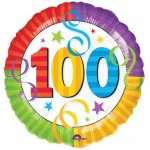 18in 100th Birthday Perfection Foil