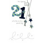 21st Birthday Card- Son - 21 ' With Stars' - SORRY OUT OF STOCK