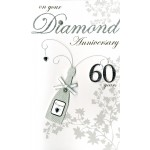 Diamond Anniversary Card- Couple - 'Champagne Bottle' - SORRY OUT OF STOCK