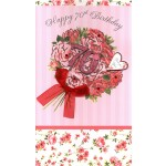 70th Birthday Card - 'Bouquet Of Roses'  - SORRY OUT OF STOCK