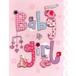 Birth Girl - 'Baby Girl Lettering On Pink'