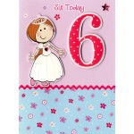 Girl Age 6 Birthday Card - 'Princess' - SORRY OUT OF STOCK