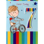 Boy Age 7 - 'Boy On Bicycle' - SORRY OUT OF STOCK