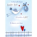 Birth Baby Boy  -' Stork' - SORRY OUT OF STOCK