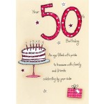 50th Birthday- 'Birthday Cake' - SORRY OUT OF STOCK