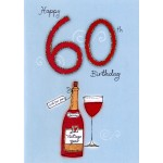 60th Birthday- 'Wine'  - SORRY  OUT OF STOCK